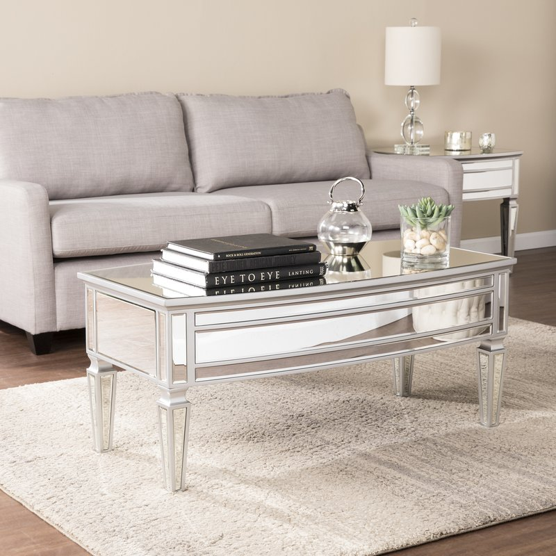 elosie mirrored coffee table SZQPRLG