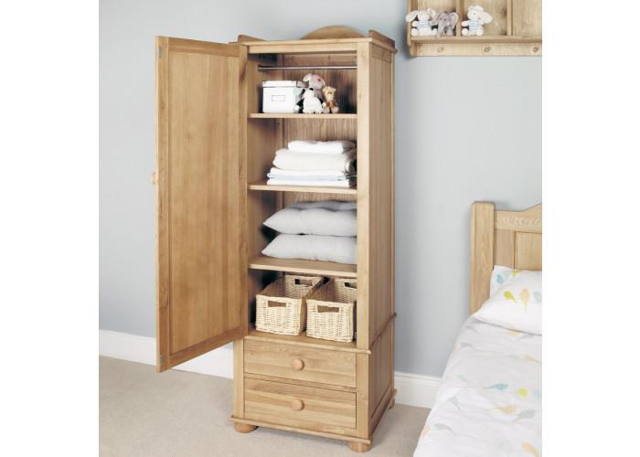 emily solid oak childrens single wardrobe NIJPJRH