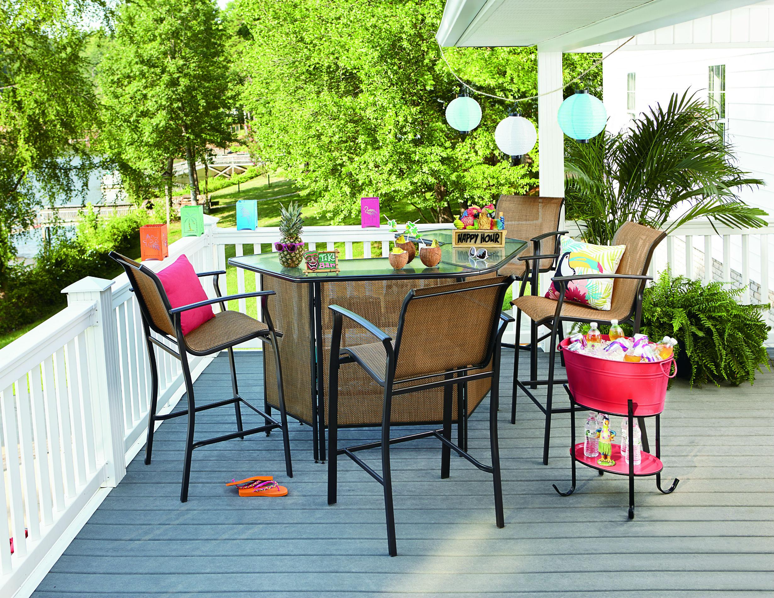 essential garden fulton 5-piece patio bar set *limited availability XIXBZAU