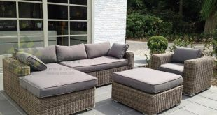 evergreen wicker furniture - sectional sofa - rattan furniture - patio VYVMMHJ