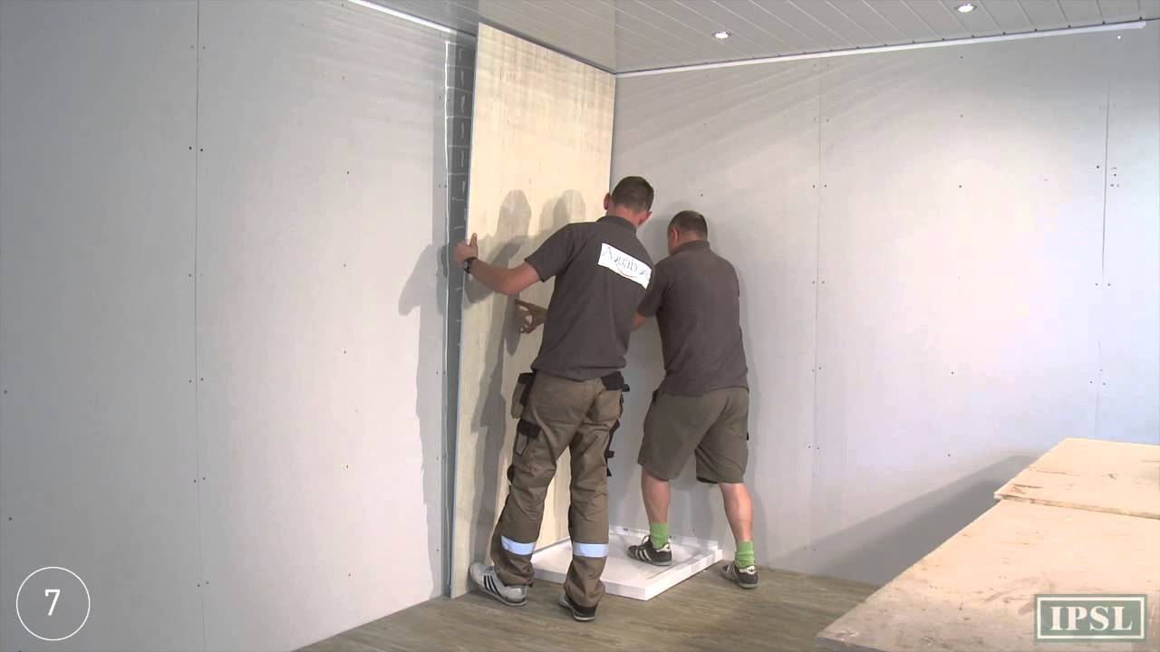 fitting bathroom panels shower wall panels - how to install aquabord laminate panels - BSLROPY