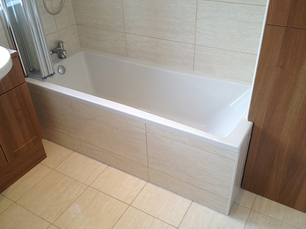 fitting bathroom panels tiled bath panel with bathroom installation in leeds RMCTQIU