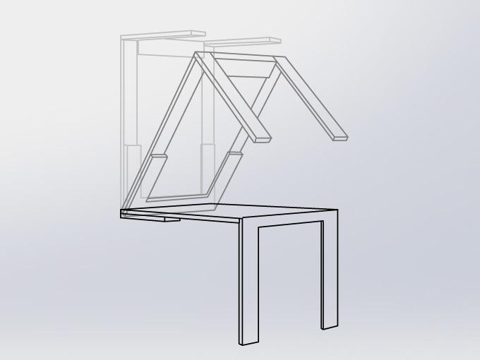 folding wall table MDUYDAB