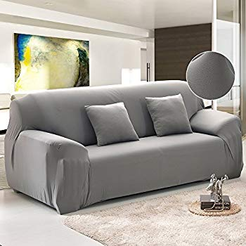 fp sofa covers for 3 cushion couch grey polyester spandex stretch INUECKV
