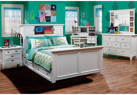 full bedroom sets belmar-white-6-pc-full-bookcase-bedroom_525x366-3462697p.jpg WVUYLPE