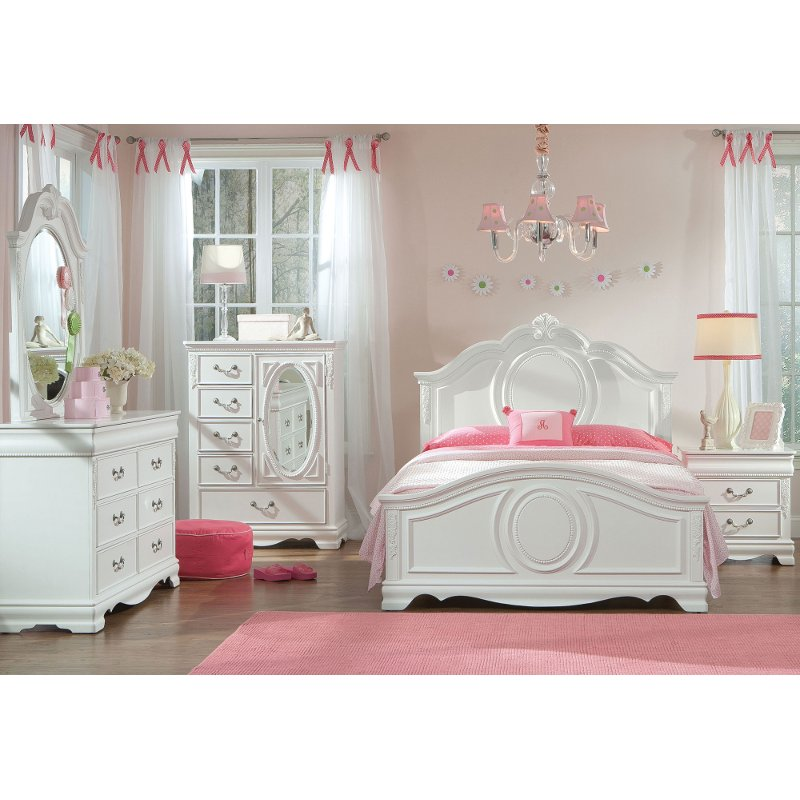 full bedroom sets white traditional 6 piece full bedroom set - jessica FXEALJV