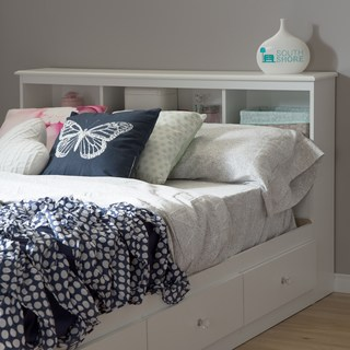 full size headboards full-size 54-inch white bookcase headboard BJMJHSY