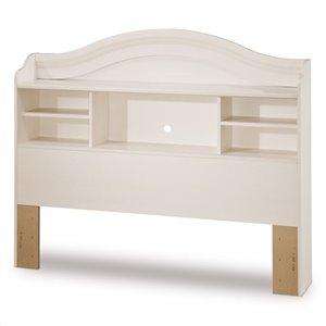 full size headboards south shore summer breeze bookcase headboard in white FPNLQRD