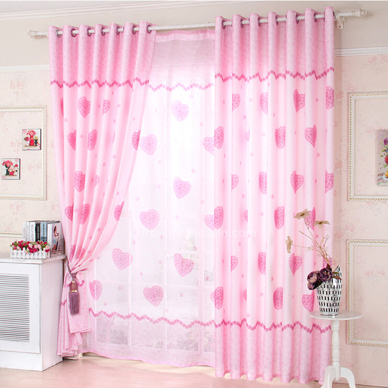 girls curtains girls bedroom heart shaped eco friendly dusty pink curtains DWLUIHR
