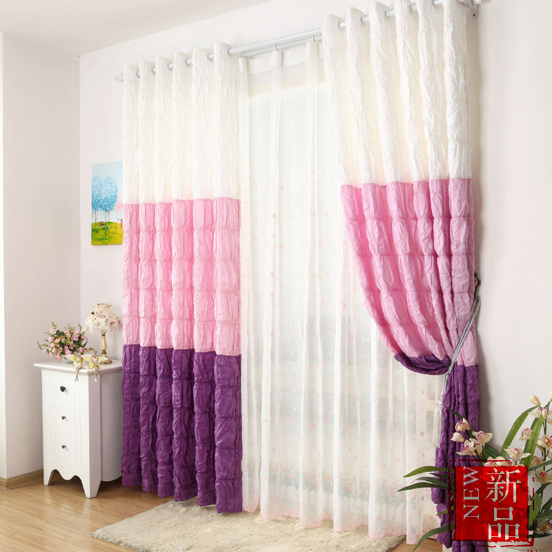 girls curtains multi-color chic style girls bedroom curtains SMHWPYA