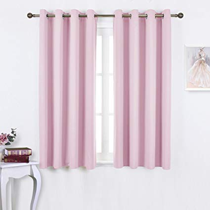 girls curtains nicetown blackout curtains for girls room - thermal insulated solid grommet ZVBJMJP