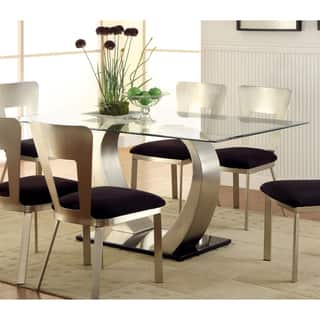 glass dining room table new rectangle kitchen tables for less overstock IXTJXWW