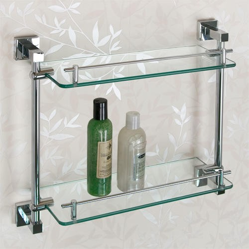glass shelf the railings on the front of the shelves not only serve WOSLCWH