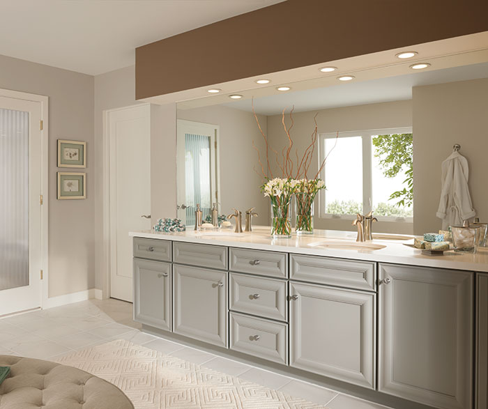 gray bathroom cabinets by kemper cabinetry ... AERISCQ