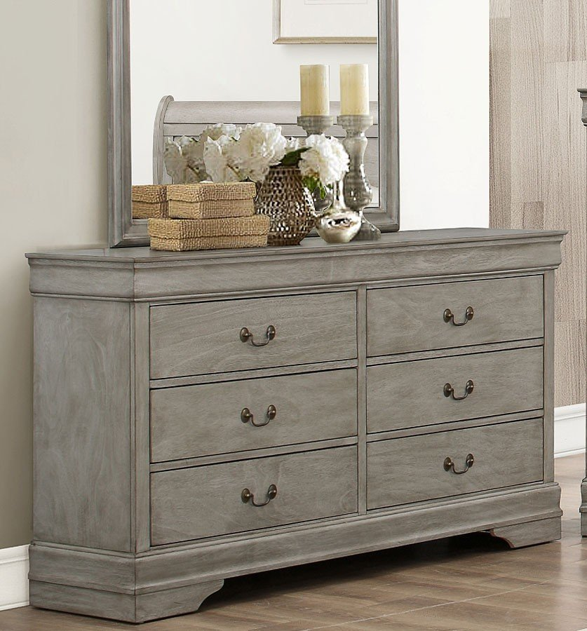 grey dressers louis philip dresser (grey) EPCQDBQ