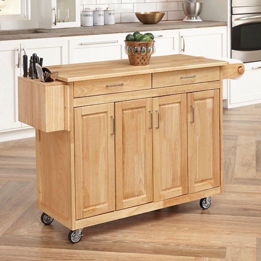 home styles brown scandinavian kitchen carts FZDLMXU