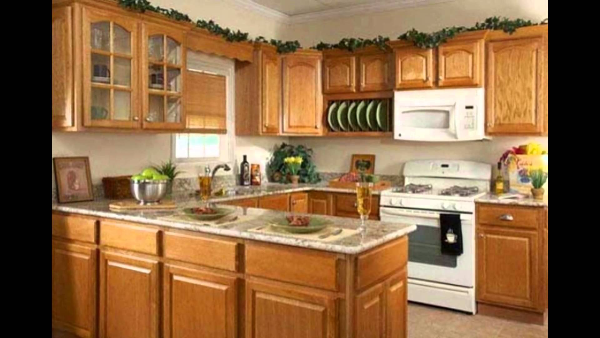 honey oak kitchen cabinets ZZVOKAD