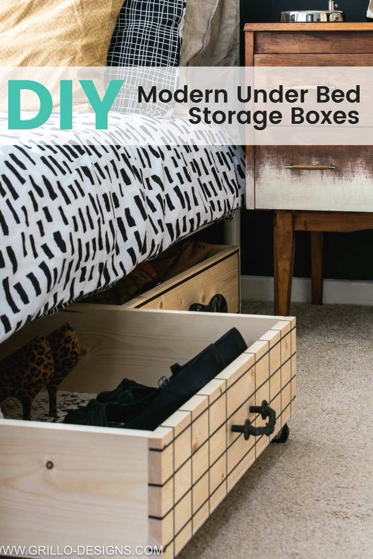 how to make a diy under bed storage box on wheels RJTNGHD