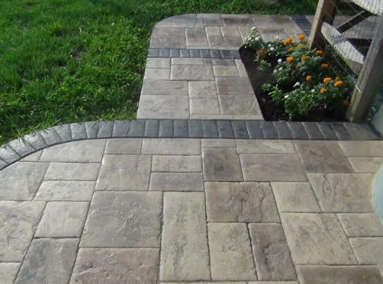 how to make stamped concrete less slippery CUJXVEX
