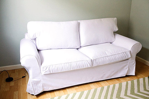 ıkea ektorp sofa custom ikea ektorp sofa bed cover 2 seater in gaia white VFACFIG