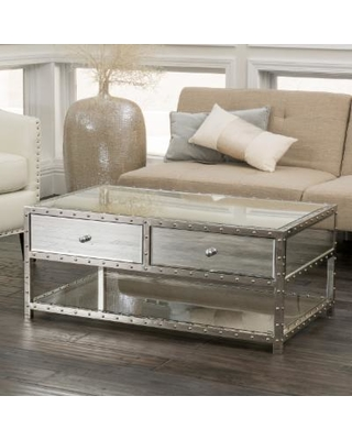 jade mirrored coffee table by christopher knight home (silver mirrored BBGKZTT