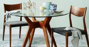 jensen round glass dining table BAHDYLP