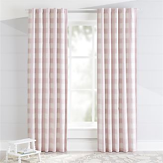 kids blackout curtains pink buffalo check blackout curtains YALJGCN