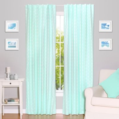 kids blackout curtains the peanut shell® arrows blackout window panel pair in mint ERHYTWC