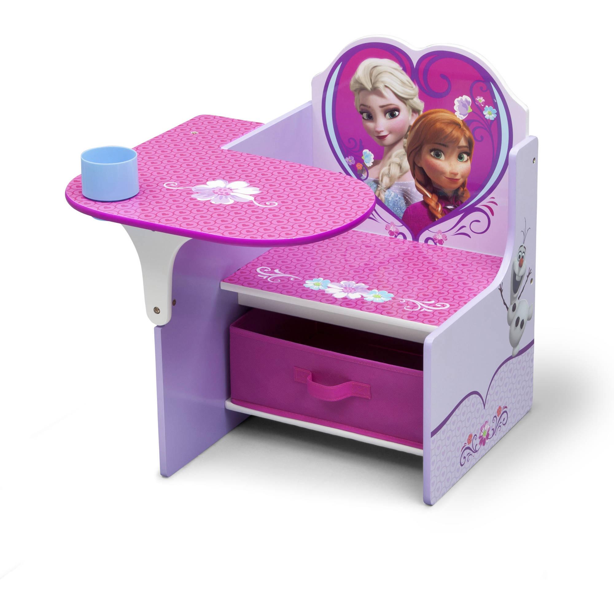 kids desk chairs disney frozen, toddler child chair desk with bonus storage bin by LCHQMFG