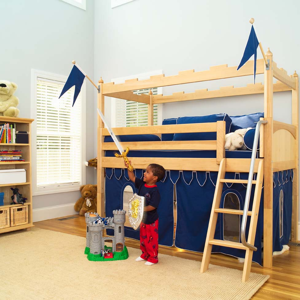 kids loft bed camelot castle low loft bed by maxtrix kids (390) PUIJSHS