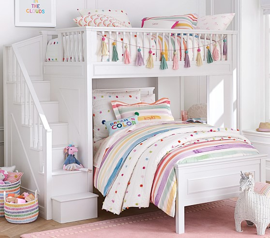 kids loft bed fillmore stair loft bed ZAICFHJ