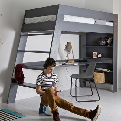 kids loft bed ... julien-bunk-bed-in-grey-for-kids.jpg ... ABTKEJZ