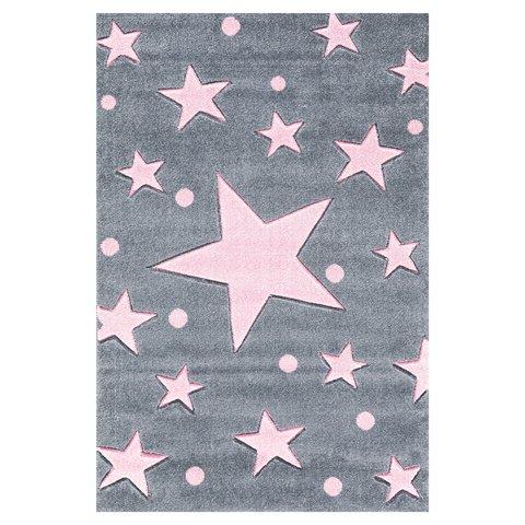 kids rug happy rugs stars silver-gray/pink 160x230cm ... MFJGIEN