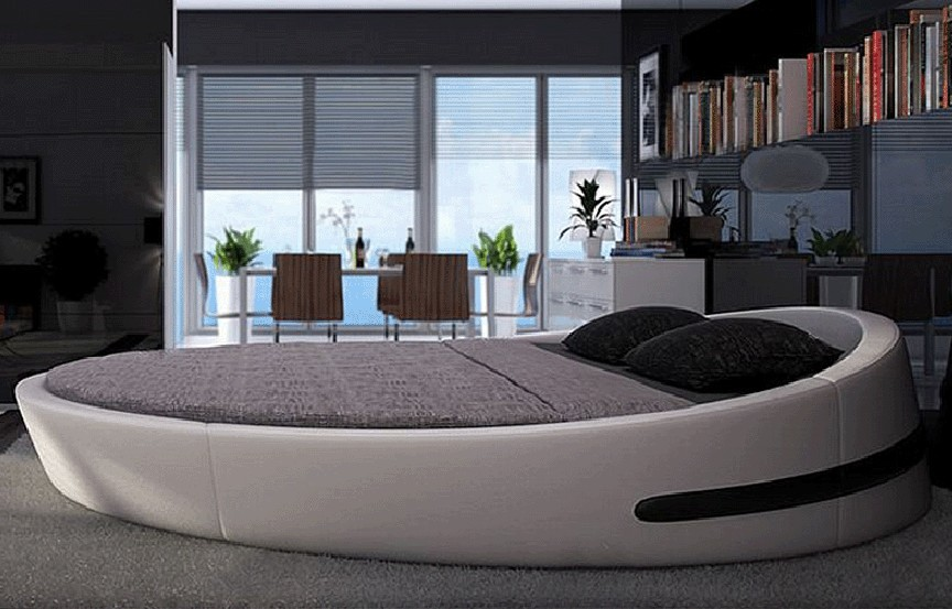 king size bed bisini king size round bed leather round bed double round bed AQARCNX