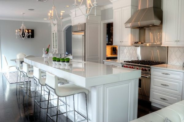 kitchen bar stools ... geometric décor view in gallery a very sleek and chic DGEXYQH