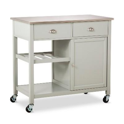 kitchen carts stainless steel top kitchen island - threshold™ : target DUAXJCZ