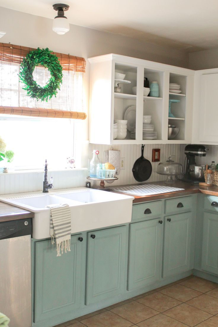 kitchen cupboard paint ideas chalk painted kitchen cabinets: 2 years later DRGCLJH