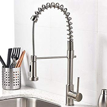 kitchen faucet vccucine best modern commercial brushed nickel pull out sprayer single GQKFPKD
