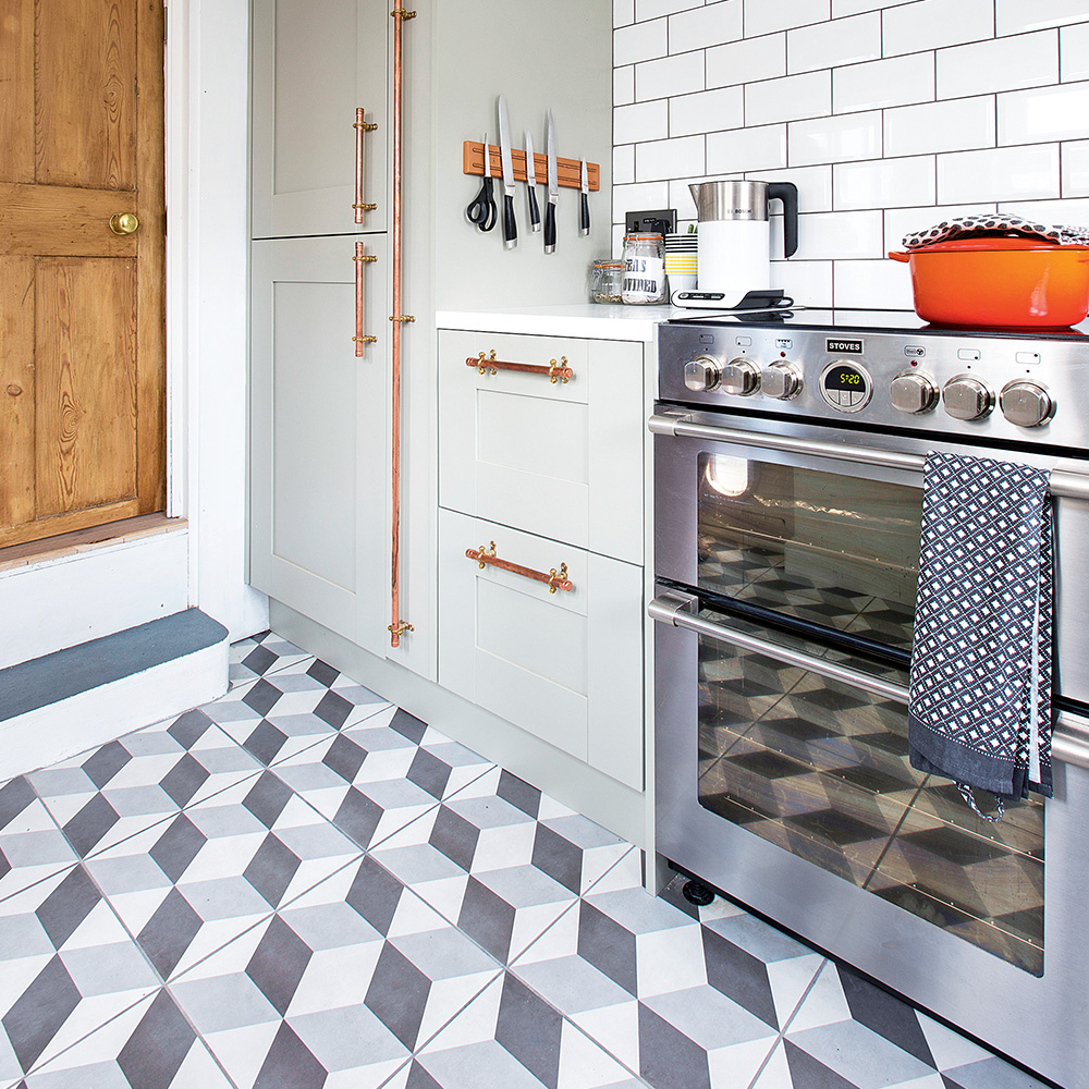 kitchen flooring with tiles kitchen flooring ideas to give your scheme a new look DBXUSEC