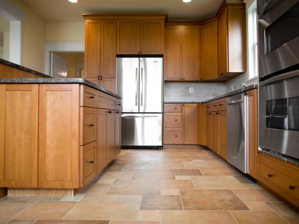 kitchen flooring with tiles spacious kitchen with wood and tile DBVSXOJ