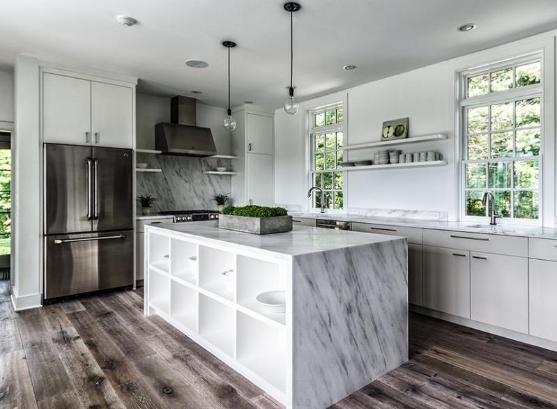 kitchen floors distressed wood IGSAHCY