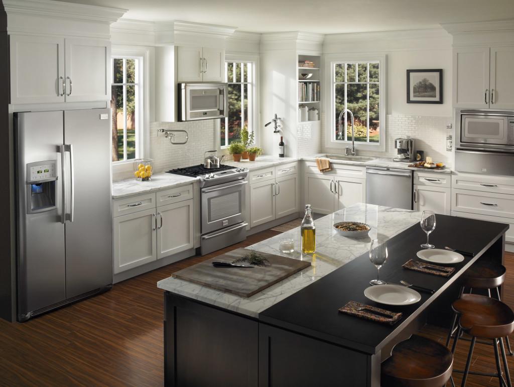 kitchen renovations modish-kitchen-renovation-ideas-with-black-and-white- OZWYAGO