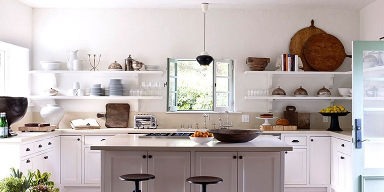 Decorating your kitchen with kitchen shelves