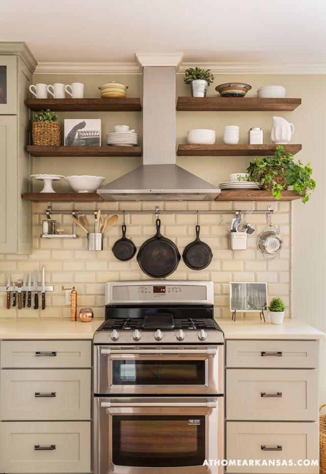 kitchen shelves little rock arkansas home makeover by kathryn lemasters | range hood DBMRBTE