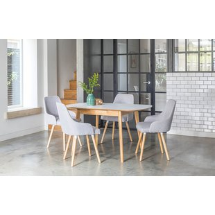 kitchen table and chairs faldo extendable dining set with 4 chairs ZQUVEAR