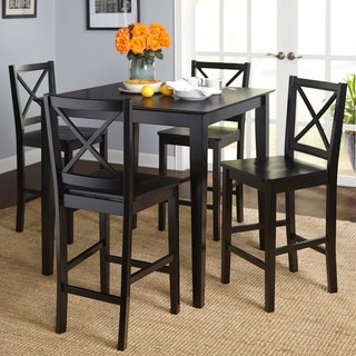 kitchen table and chairs simple living cross back counter height 5-piece table and chair set YZNEUXU
