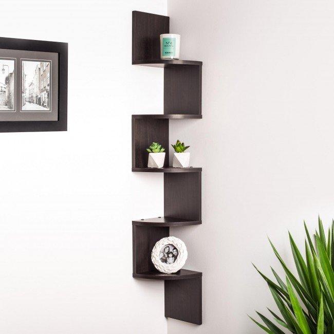 ksp nook corner wall shelf (espresso) KSRVVTK