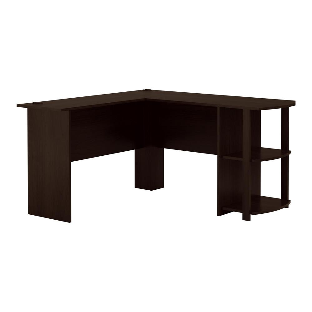 l shaped desk ameriwood home quincy espresso l-shaped desk OIAFMKB