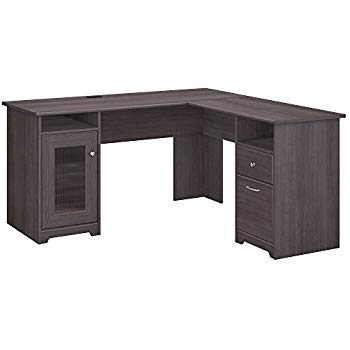 l shaped desk cabot l shaped computer desk in heather gray XUHKCOD