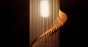 lamp shade twisted lasercut wooden lampshade no.1 LSOSPTM